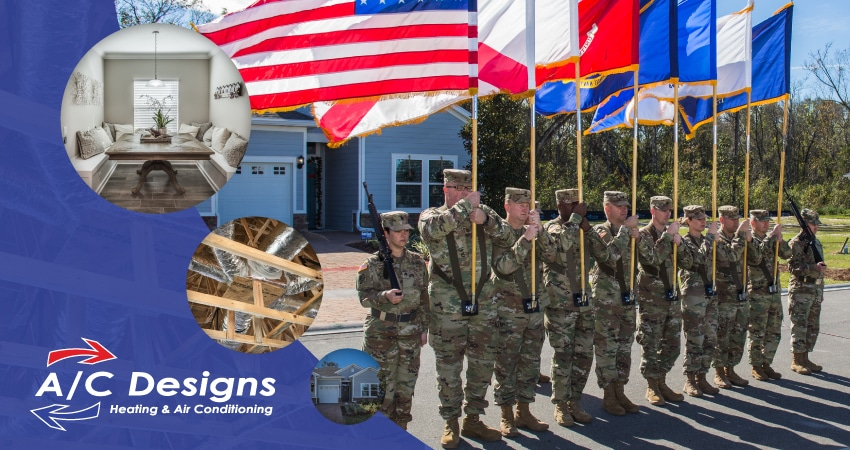 AC Designs Partners with Lennar Homes & Builders Care to Help Local Military Family | A/C Designs