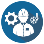 HVAC Maintenance Professional Icon (by AC Designs Inc.)